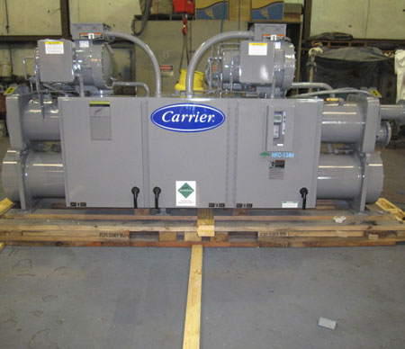 150 HP dual screw marine chiller package, complete with cupra/nickel exchangers